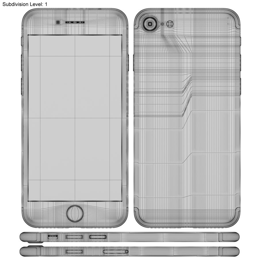 Apple iPhone 7 Gül Altın royalty-free 3d model - Preview no. 21