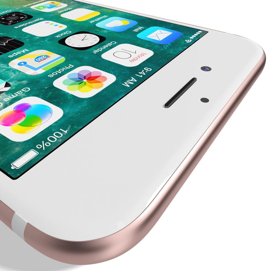 Apple iPhone 7 Gül Altın royalty-free 3d model - Preview no. 16