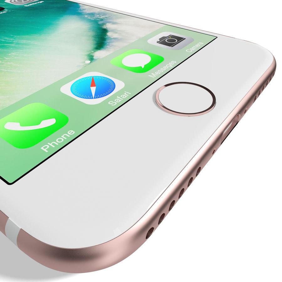 Apple iPhone 7 Gül Altın royalty-free 3d model - Preview no. 17