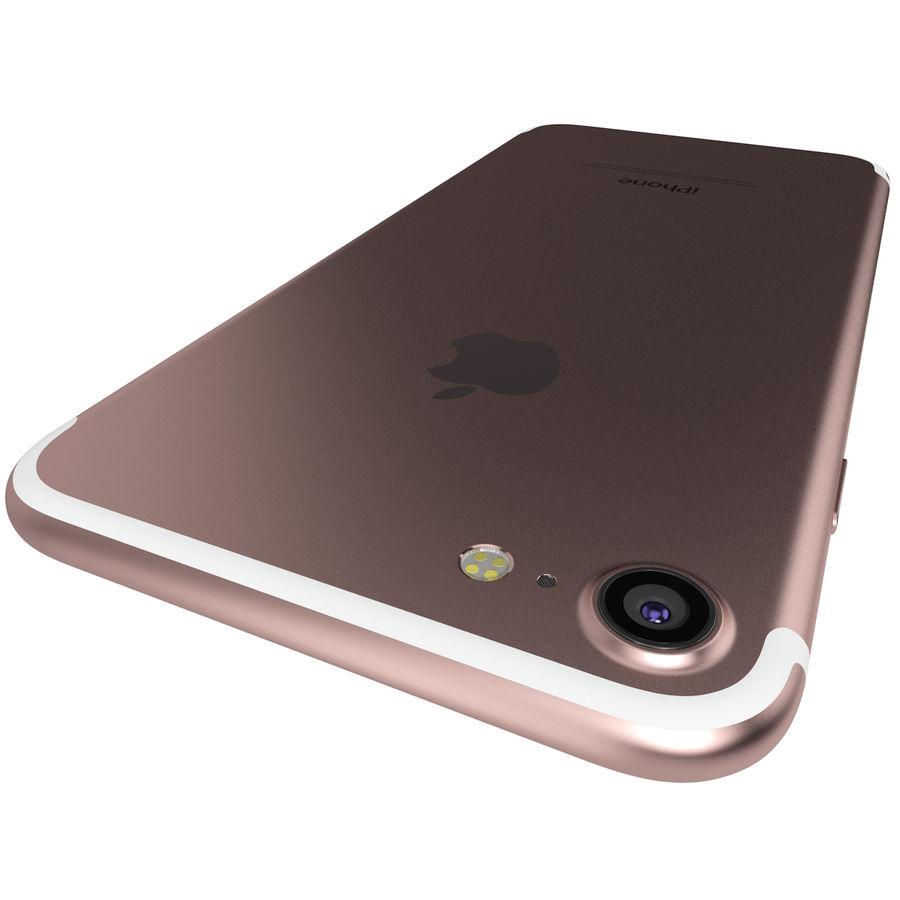 Apple iPhone 7 Gül Altın royalty-free 3d model - Preview no. 10