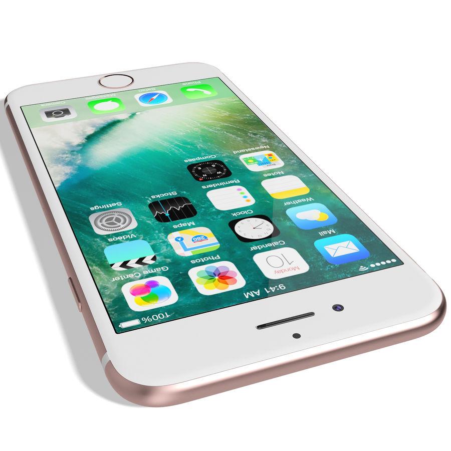 Apple iPhone 7 Gül Altın royalty-free 3d model - Preview no. 11