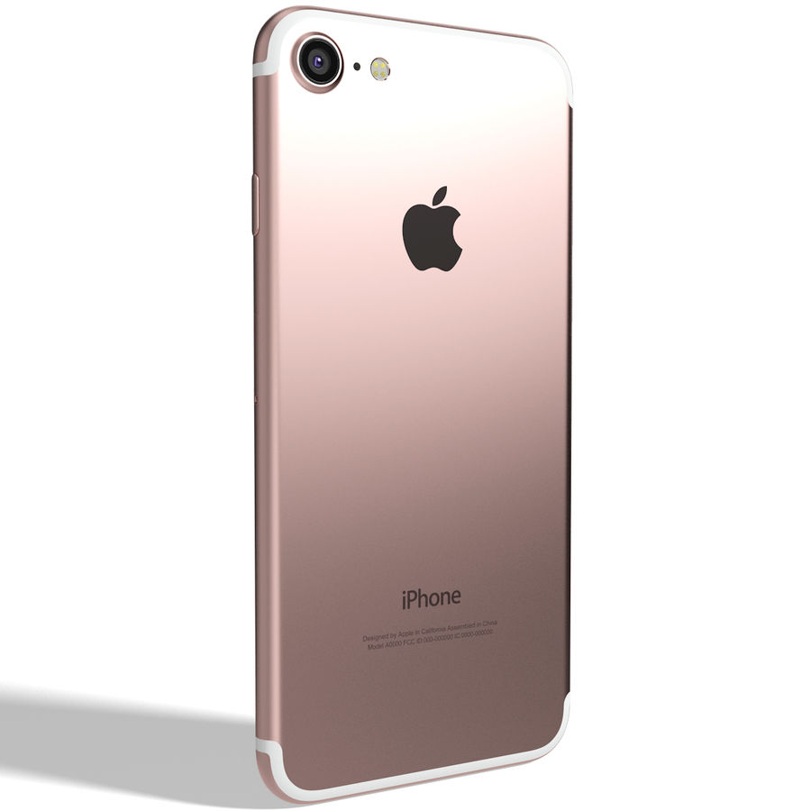 Apple iPhone 7 Gül Altın royalty-free 3d model - Preview no. 5