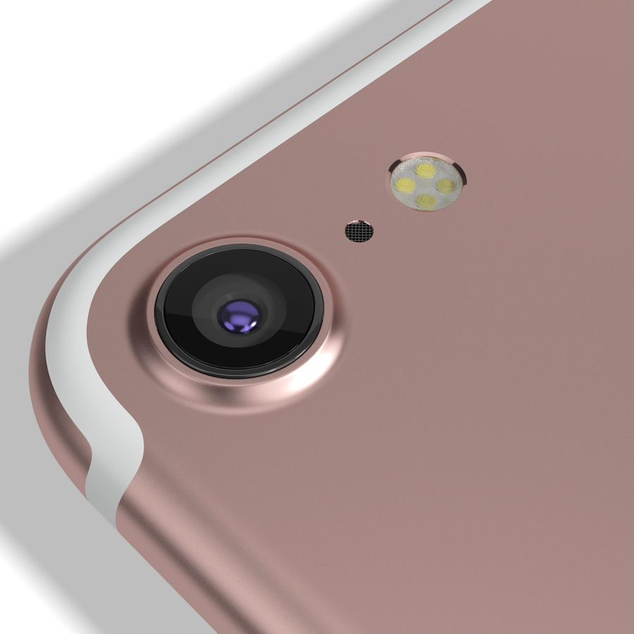 Apple iPhone 7 Gül Altın royalty-free 3d model - Preview no. 14