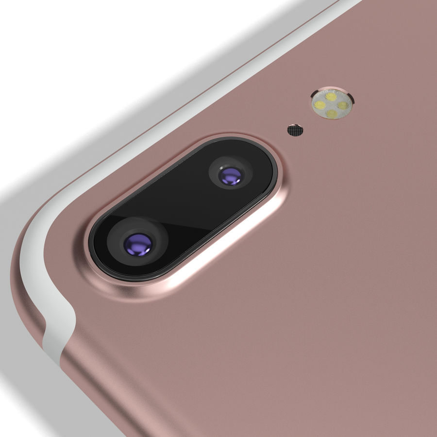 Apple iPhone 7 Artı Gül Altın royalty-free 3d model - Preview no. 14