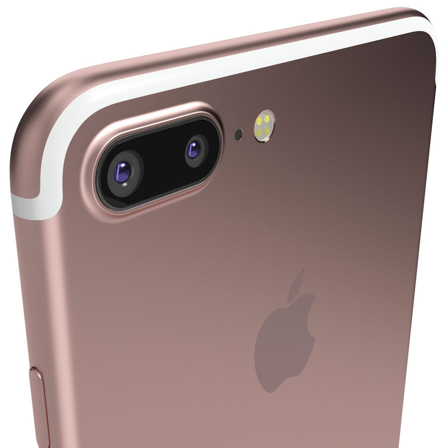 Apple iPhone 7 Artı Gül Altın royalty-free 3d model - Preview no. 7