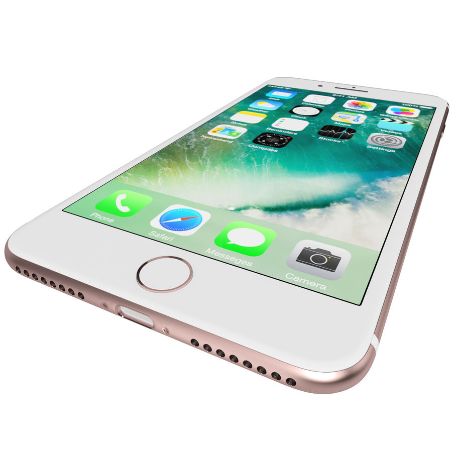 Apple iPhone 7 Artı Gül Altın royalty-free 3d model - Preview no. 13
