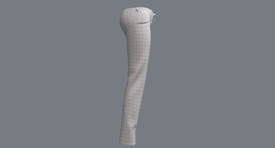 Jeans Mujer Azul royalty-free modelo 3d - Preview no. 22