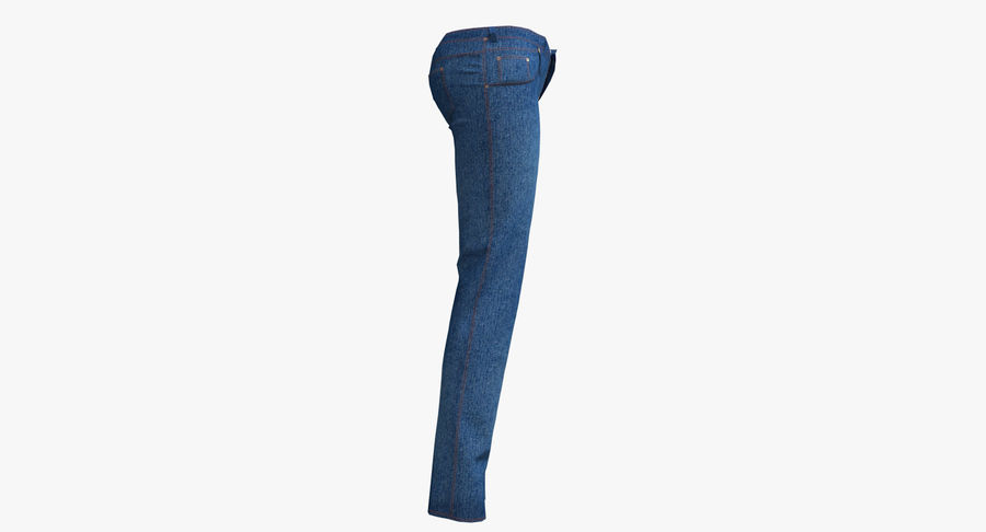 Jeans Mujer Azul royalty-free modelo 3d - Preview no. 14