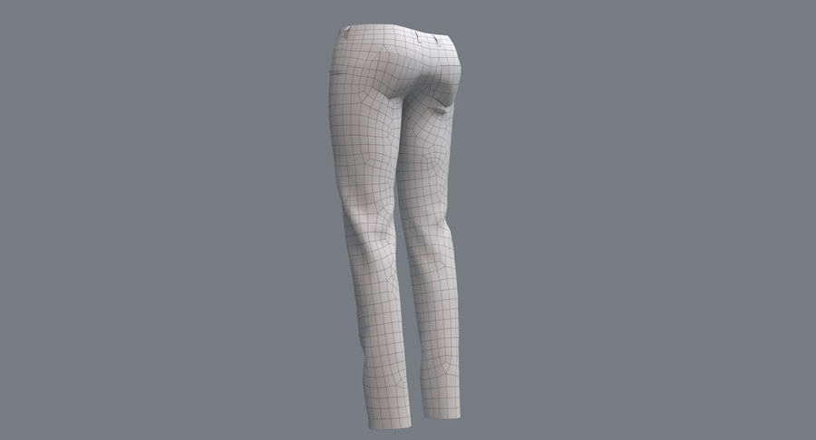 Jeans Mujer Azul royalty-free modelo 3d - Preview no. 19