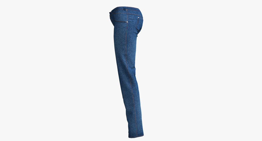 Jeans Mujer Azul royalty-free modelo 3d - Preview no. 15