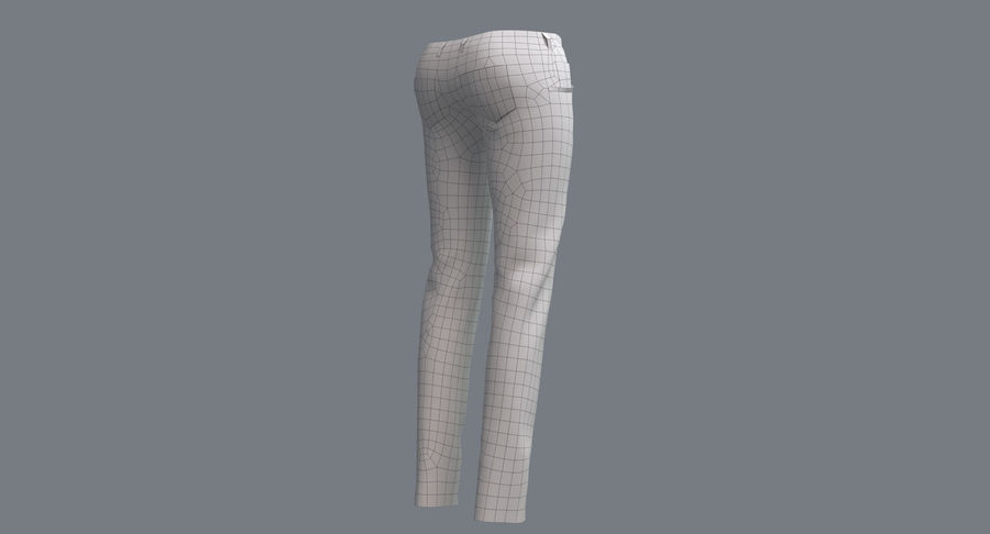 Jeans Mujer Azul royalty-free modelo 3d - Preview no. 18