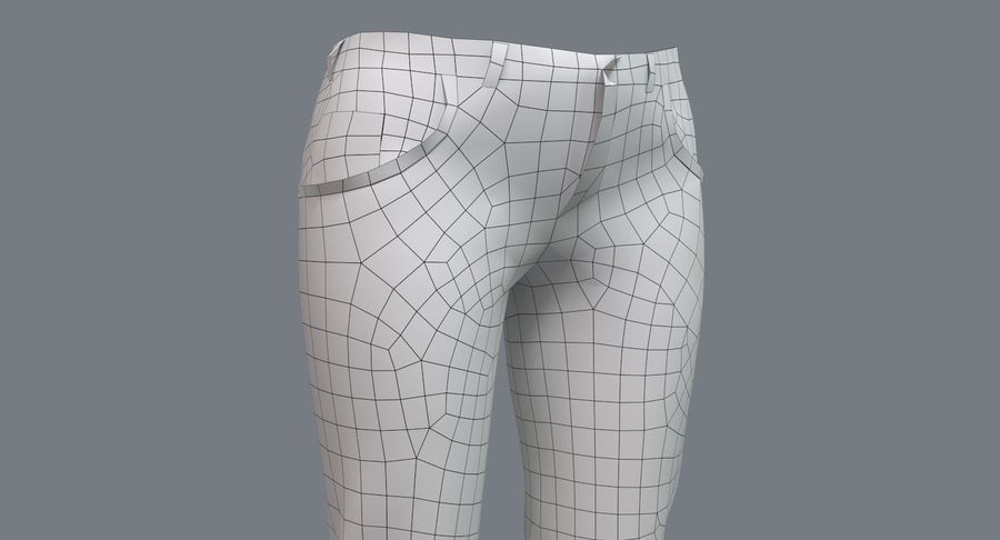 Jeans Mujer Azul royalty-free modelo 3d - Preview no. 25