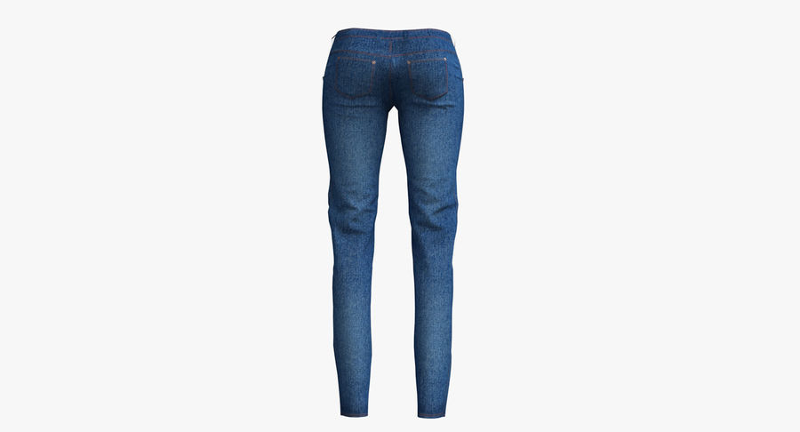 Jeans Mujer Azul royalty-free modelo 3d - Preview no. 13