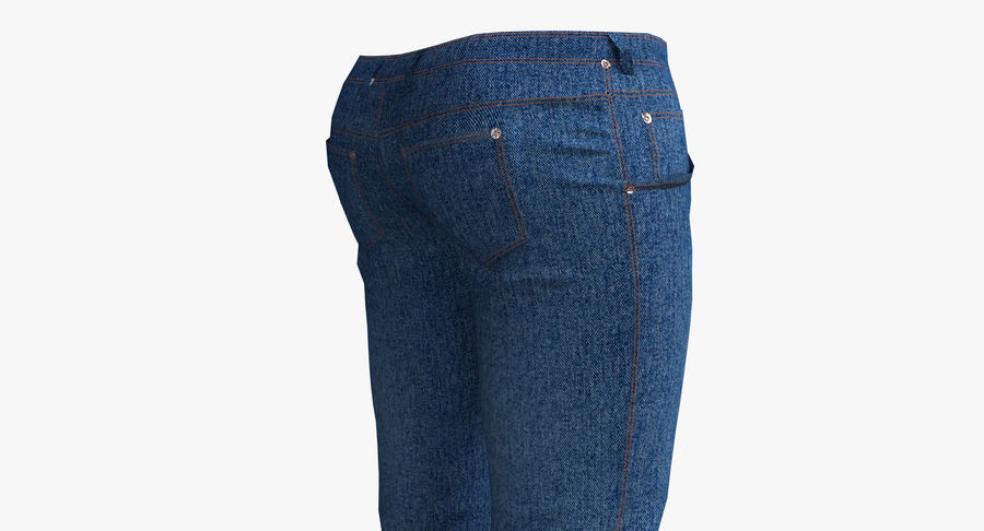 Jeans Mujer Azul royalty-free modelo 3d - Preview no. 10