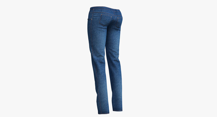 Jeans Mujer Azul royalty-free modelo 3d - Preview no. 17