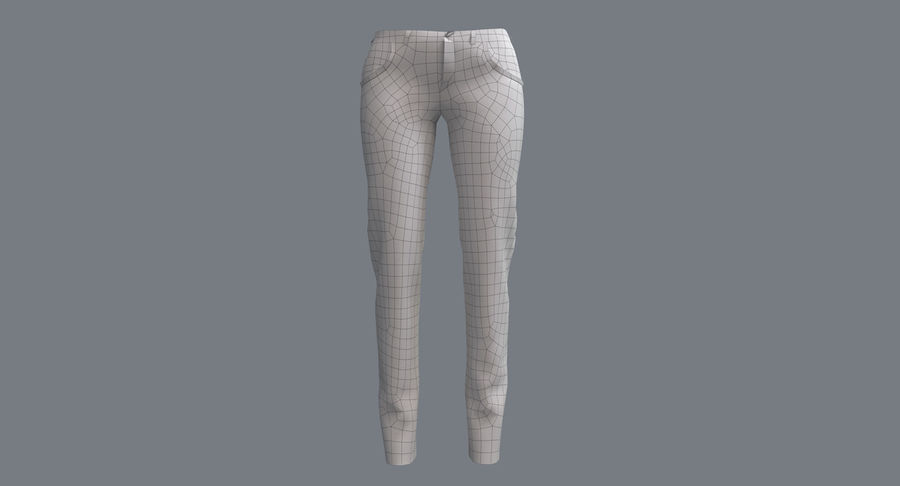 Jeans Mujer Azul royalty-free modelo 3d - Preview no. 20