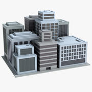 Ciudad simple modelo 3d