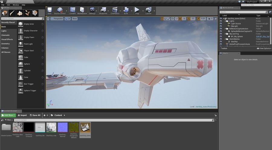 Space Ship Defender royalty-free 3d model - Preview no. 52