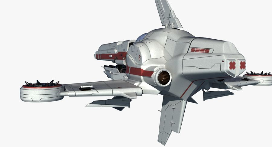 Space Ship Defender royalty-free 3d model - Preview no. 14