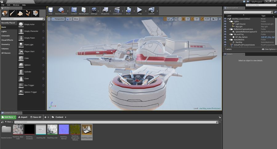 Space Ship Defender royalty-free 3d model - Preview no. 50