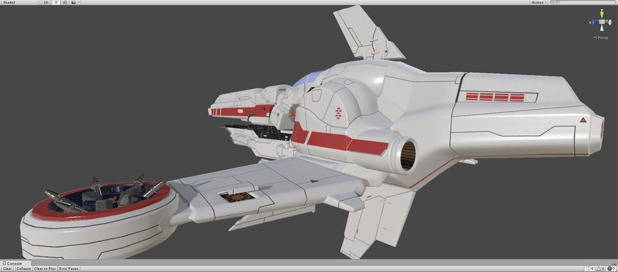 Space Ship Defender royalty-free 3d model - Preview no. 43