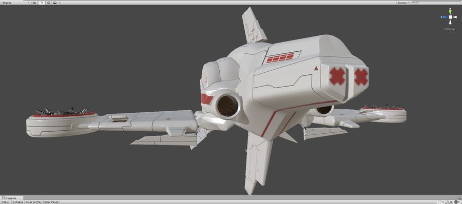Space Ship Defender royalty-free 3d model - Preview no. 44
