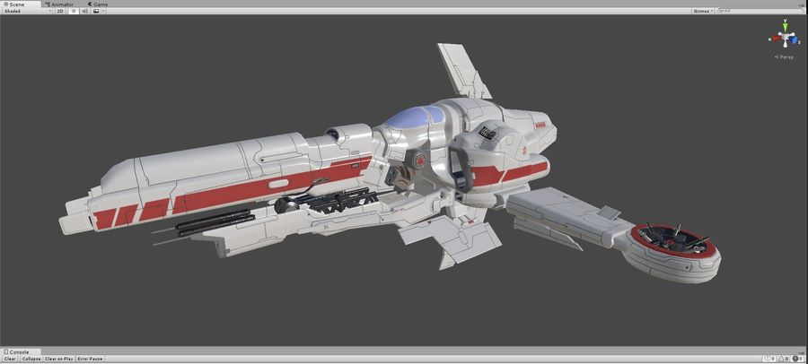 Space Ship Defender royalty-free 3d model - Preview no. 36