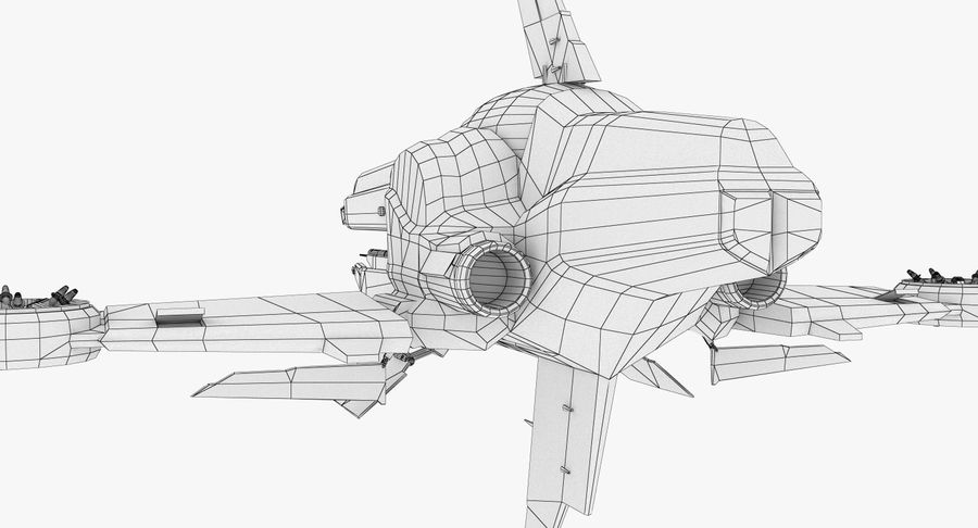 Space Ship Defender royalty-free 3d model - Preview no. 30