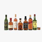 Whiskey bottles 3d model