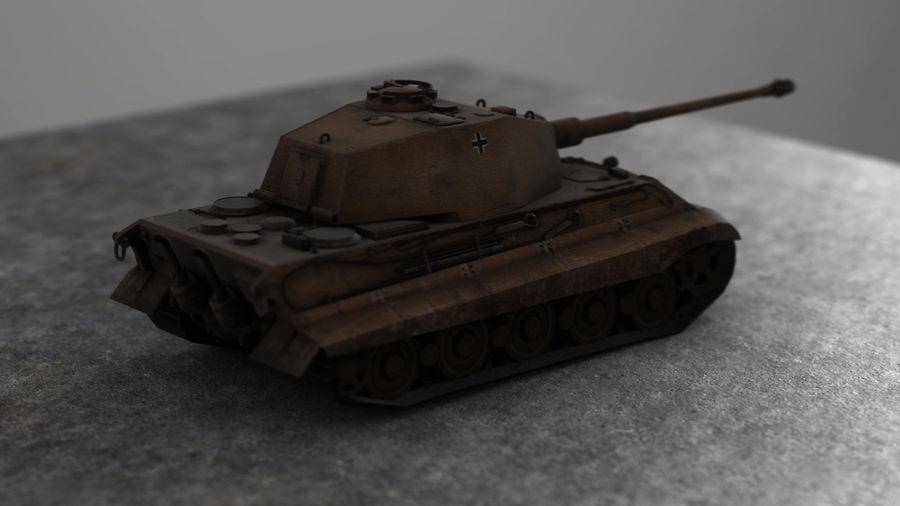 Второй мировой войны немецкий танк royalty-free 3d model - Preview no. 5