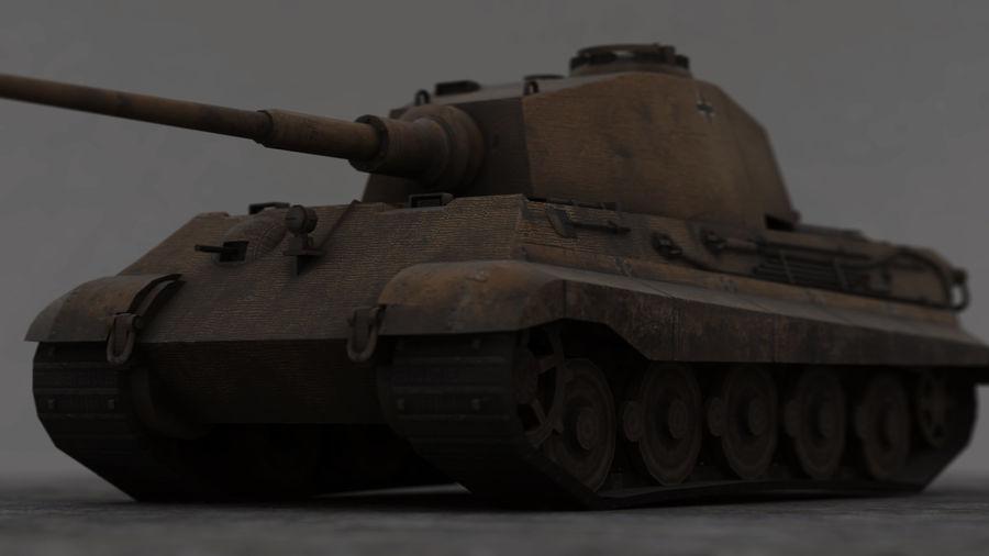 Второй мировой войны немецкий танк royalty-free 3d model - Preview no. 6