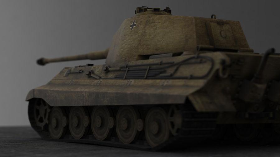 Второй мировой войны немецкий танк royalty-free 3d model - Preview no. 9