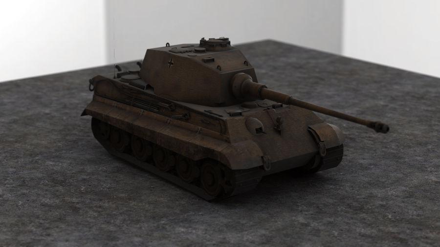 Второй мировой войны немецкий танк royalty-free 3d model - Preview no. 1