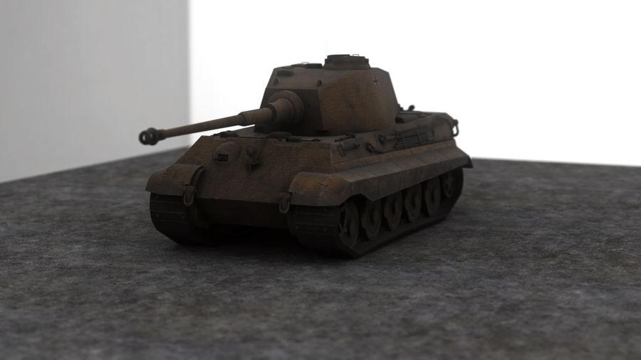 Второй мировой войны немецкий танк royalty-free 3d model - Preview no. 2