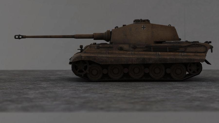Второй мировой войны немецкий танк royalty-free 3d model - Preview no. 3