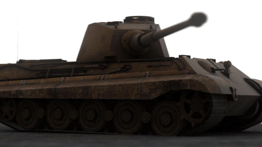 Второй мировой войны немецкий танк royalty-free 3d model - Preview no. 10