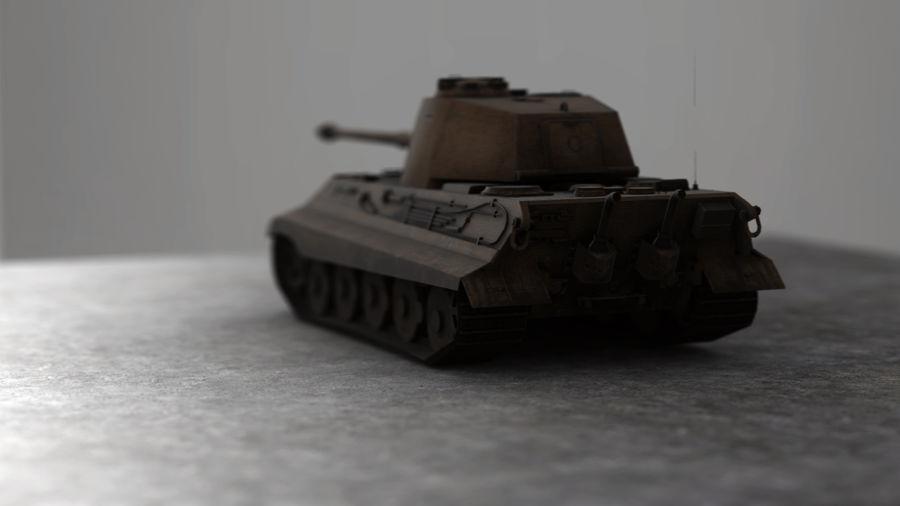 Второй мировой войны немецкий танк royalty-free 3d model - Preview no. 4