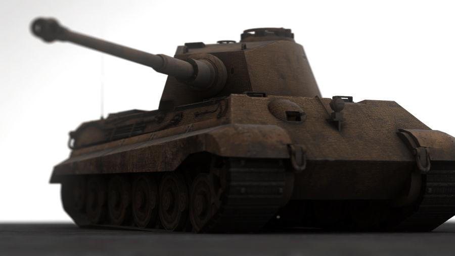 Второй мировой войны немецкий танк royalty-free 3d model - Preview no. 11