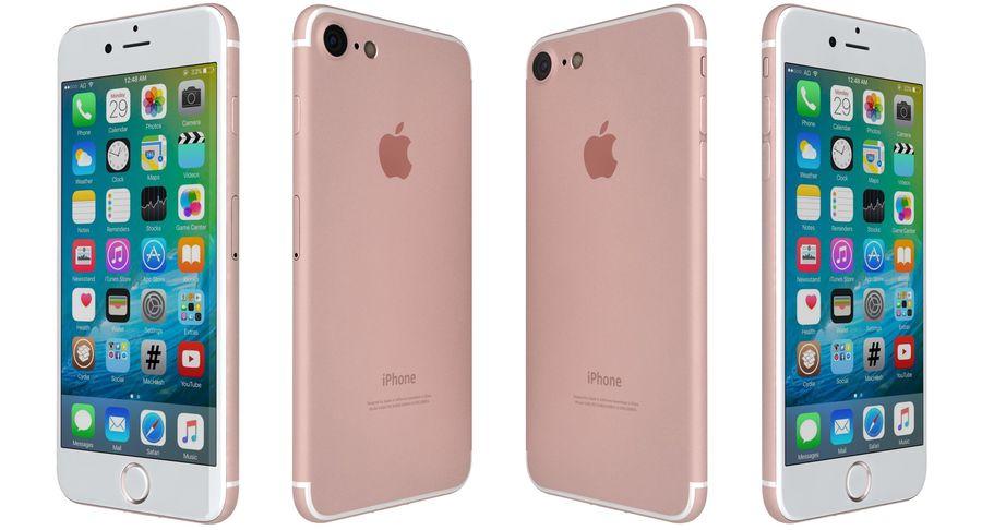 Apple iPhone 7 Gül Altın royalty-free 3d model - Preview no. 8