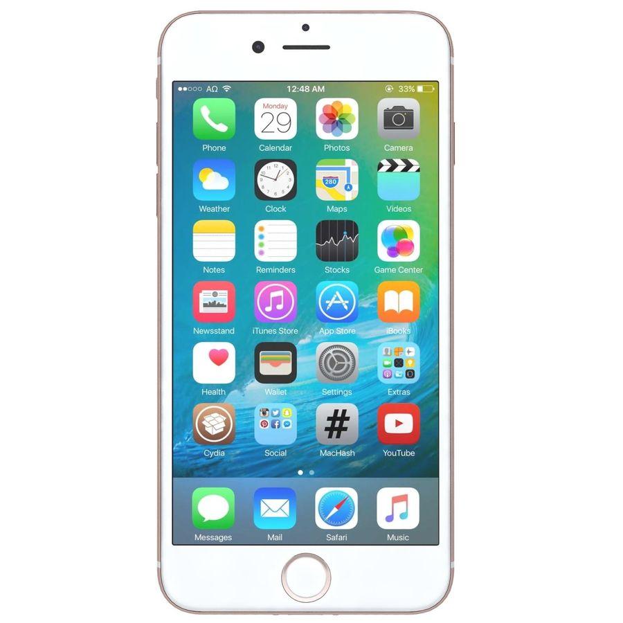 Apple iPhone 7 Gül Altın royalty-free 3d model - Preview no. 2