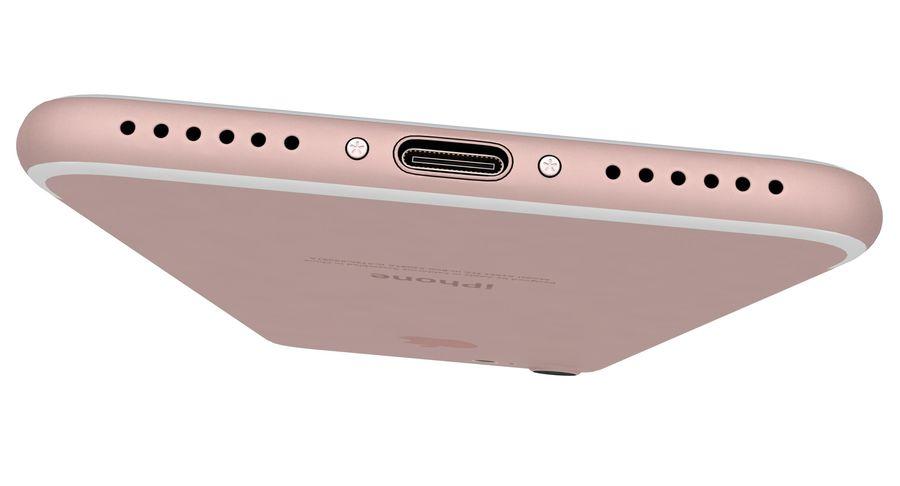 Apple iPhone 7 Gül Altın royalty-free 3d model - Preview no. 18