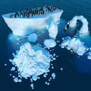 북극 장면 3d model