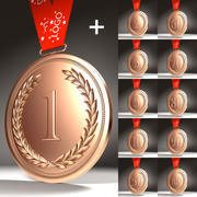 Medals Collection 3d model