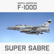 F100 Super Sabre 3d model