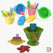 Collezione di giocattoli di sabbia 3 3d model
