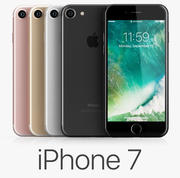 iPhone 7 todas as cores 3d model