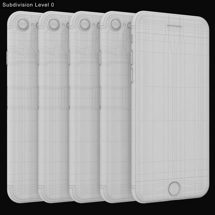 Apple iPhone 7 todos los colores royalty-free modelo 3d - Preview no. 19
