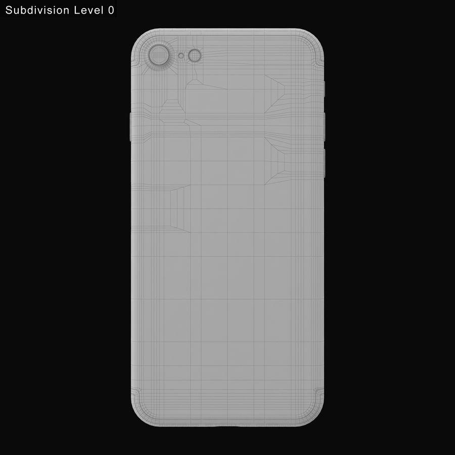 Apple iPhone 7 todos los colores royalty-free modelo 3d - Preview no. 21