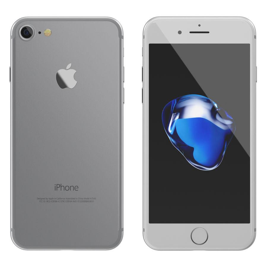 Apple iPhone 7 todos los colores royalty-free modelo 3d - Preview no. 3