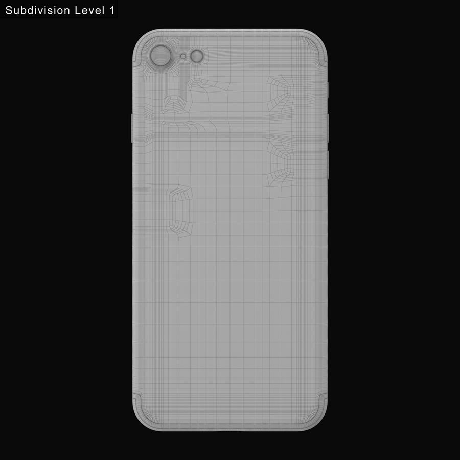 Apple iPhone 7 todos los colores royalty-free modelo 3d - Preview no. 23